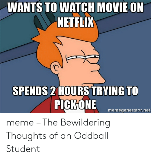 WANTS TO WATCH MOVIE ON NETFLIX SPENDS 2 HOURS TRYING TO