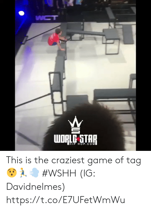 wshh: WCT  WORLC STAR  HIP HOP.COM This is the craziest game of tag 😯🏃♂️💨 #WSHH (IG: Davidnelmes) https://t.co/E7UFetWmWu
