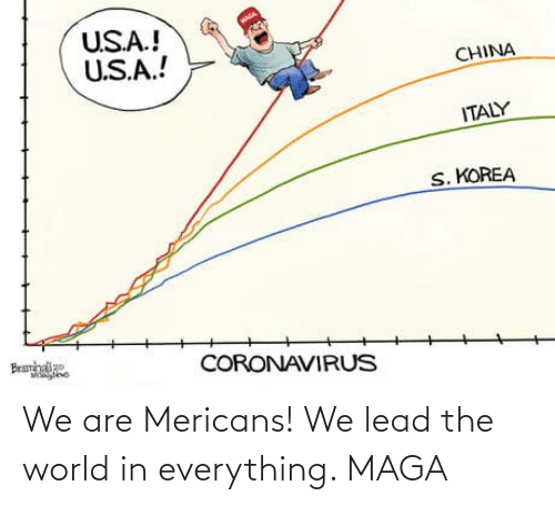 We Are: We are Mericans! We lead the world in everything. MAGA