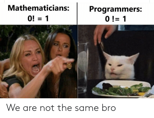 Are Not: We are not the same bro