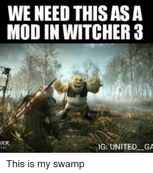 Witchers: WE NEED THIS ASA  MOD IN WITCHER a  HER  IG UNITED GA This is my swamp