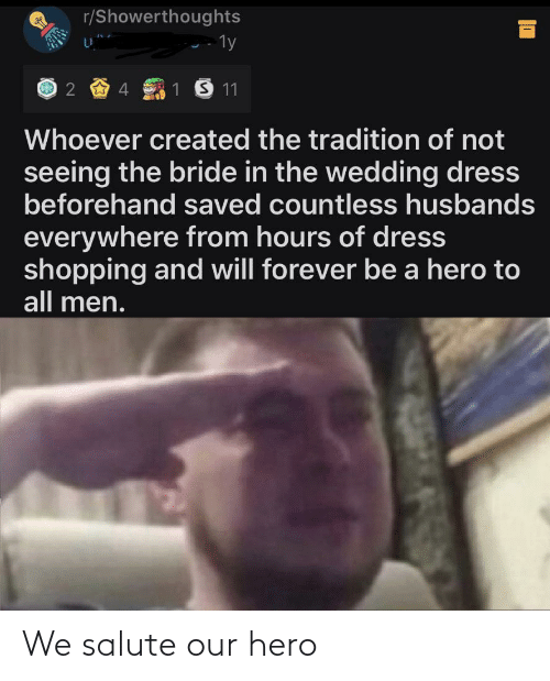 Our: We salute our hero
