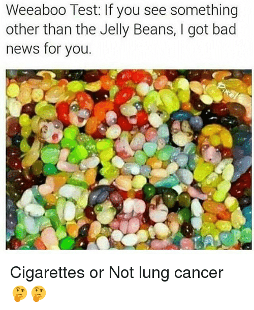 lunging: Weeaboo Test: If you see something  other than the Jelly Beans, I got bad  news for you. Cigarettes​ or Not lung cancer 🤔🤔