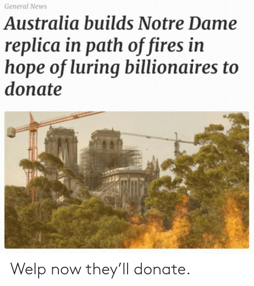 now: Welp now they'll donate.