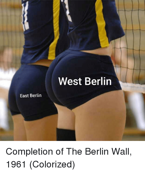 Berlin, Berlin Wall, and East: West Berlin  East Berlin Completion of The Berlin Wall, 1961 (Colorized)