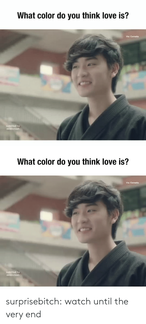color: What color do you think love is?  Via: Cornetto  subtitled by  asiancrush   What color do you think love is?  Via: Cornetto  subtitled by  asiancrush surprisebitch: watch until the very end