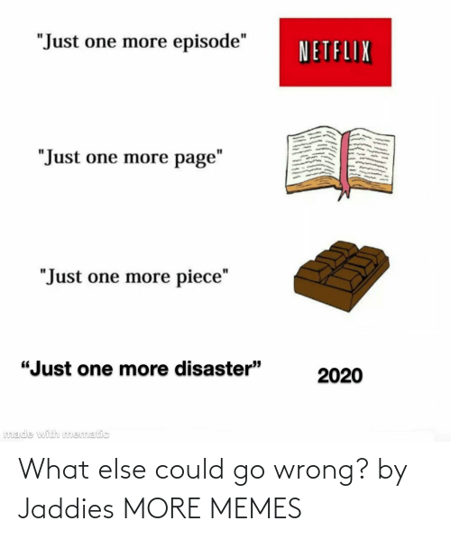 Blank: What else could go wrong? by Jaddies MORE MEMES