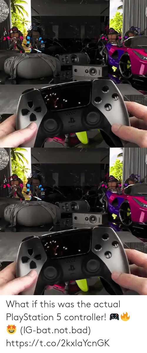 what if: What if this was the actual PlayStation 5 controller! 🎮🔥🤩 (IG-bat.not.bad) https://t.co/2kxIaYcnGK