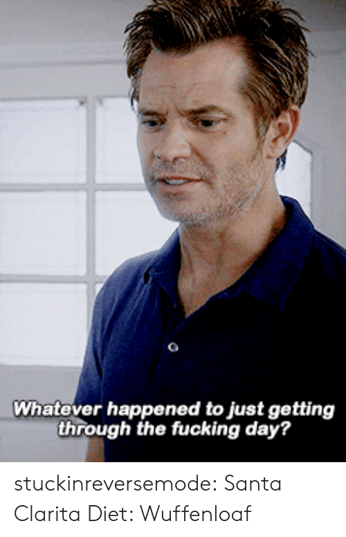Fucking, Tumblr, and Blog: Whatever happened to just getting  through the fucking day? stuckinreversemode:   Santa Clarita Diet: Wuffenloaf