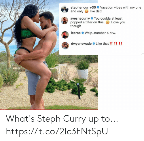 whats: What's Steph Curry up to... https://t.co/2lc3FNtSpU