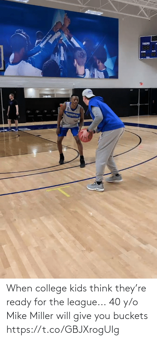 think: When college kids think they're ready for the league...  40 y/o Mike Miller will give you buckets https://t.co/GBJXrogUIg