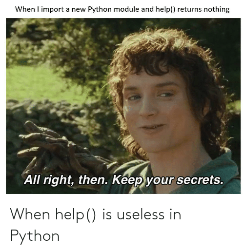 Help: When help() is useless in Python