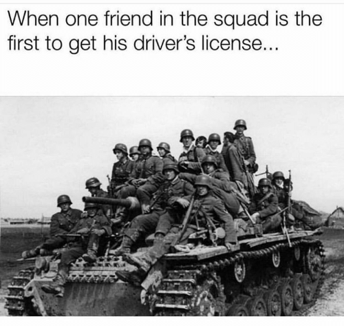 The Squad: When one friend in the squad is the  first to get his driver's license