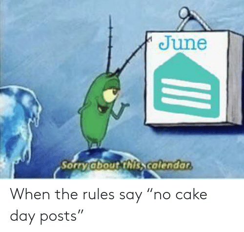 """Rules: When the rules say """"no cake day posts"""""""