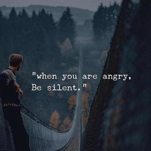 "Angry, You, and When You: ""when you are angry,  Be silent.  609060"