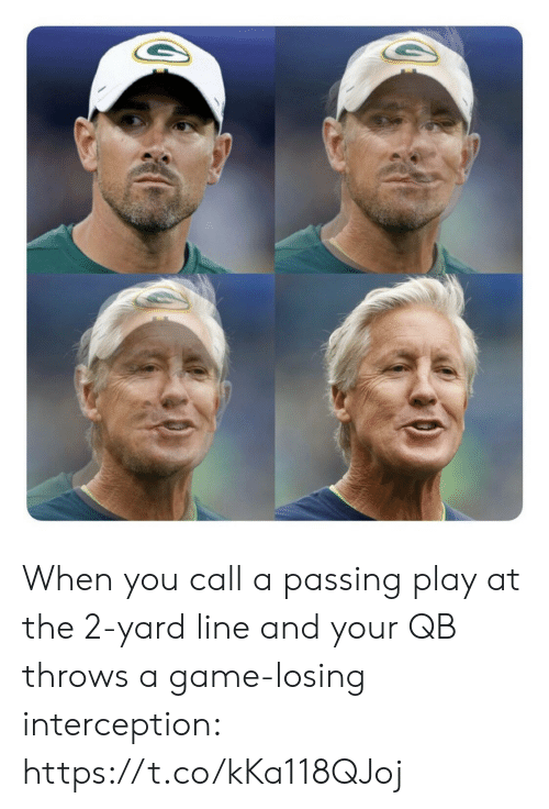 Football, Nfl, and Sports: When you call a passing play at the 2-yard line and your QB throws a game-losing interception: https://t.co/kKa118QJoj