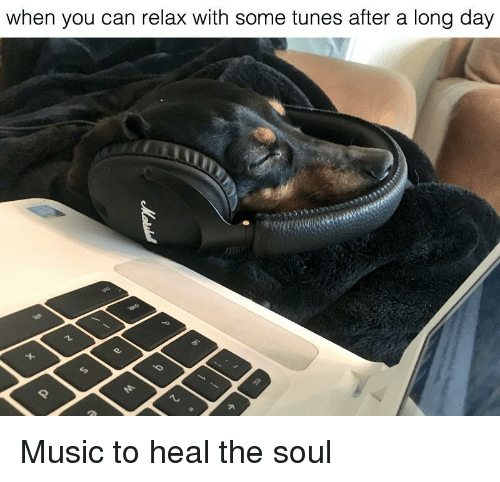 Music, Soul, and Can: when you can relax with some tunes after a long day <p>Music to heal the soul</p>