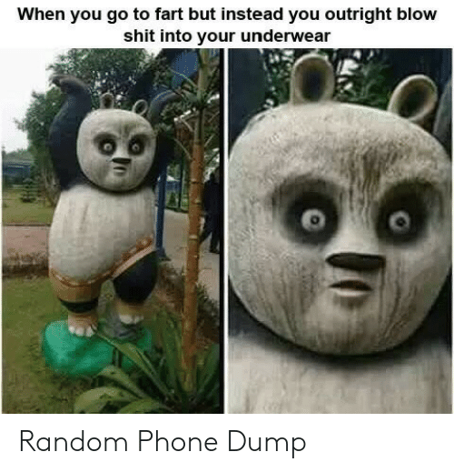 Phone, Shit, and Random: When you go to fart but instead you outright blow  shit into your underwear Random Phone Dump