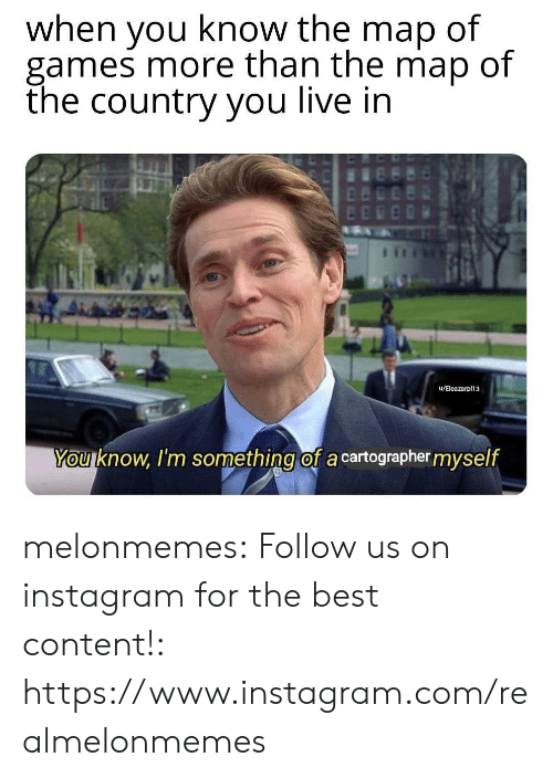 Instagram, Tumblr, and Best: when you know the map of  games more than the map of  the country you live in  u/Eleazarpl13  You know, I'm something of a cartographer myself melonmemes:  Follow us on instagram for the best content!: https://www.instagram.com/realmelonmemes