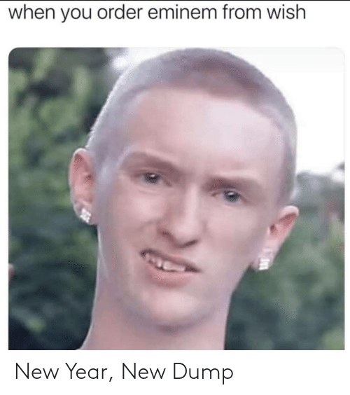 order: when you order eminem from wish New Year, New Dump