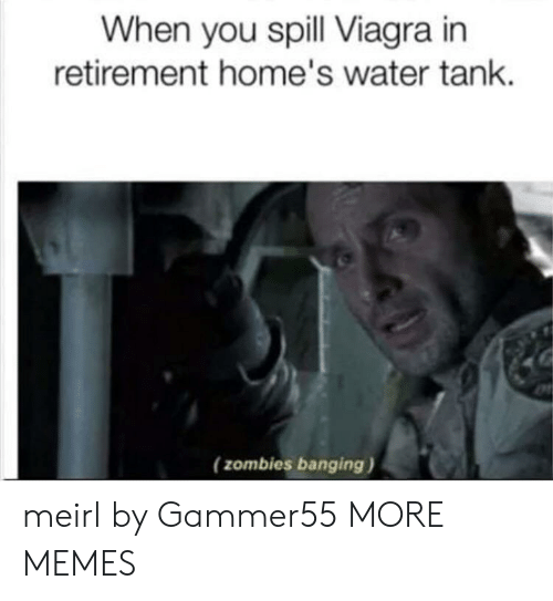 Zombies: When you spill Viagra in  retirement home's water tank  (zombies banging) meirl by Gammer55 MORE MEMES