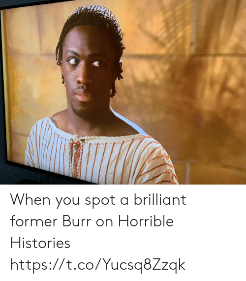 Memes, Brilliant, and 🤖: When you spot a brilliant former Burr on Horrible Histories https://t.co/Yucsq8Zzqk
