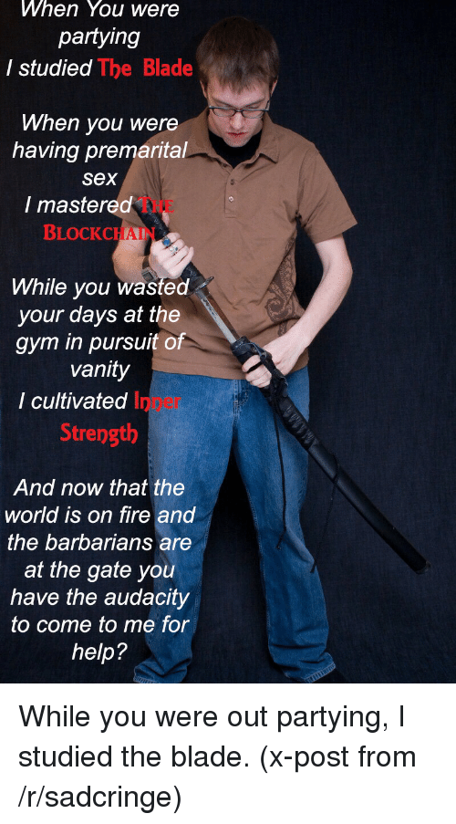 Studied The Blade