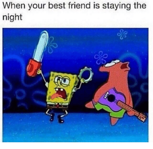 Best Friend, Memes, and Best: When your best friend is staying the  night  2