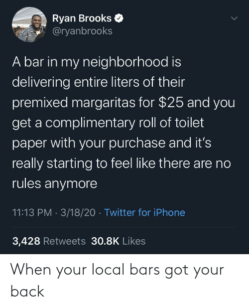 Back: When your local bars got your back
