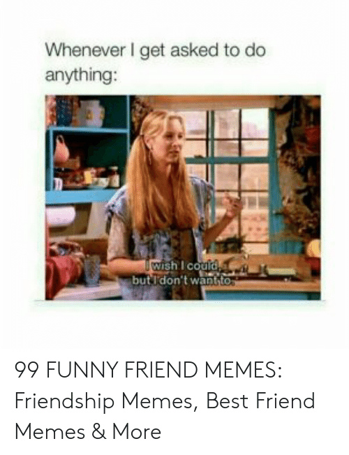 Best Friend, Funny, and Memes: Whenever I get asked to do  anything:  ishI couid  butI'don't want 99 FUNNY FRIEND MEMES: Friendship Memes, Best Friend Memes & More