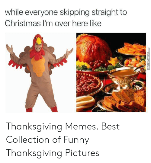 Christmas, Funny, and Memes: while everyone skipping straight to  Christmas I'm over here like Thanksgiving Memes. Best Collection of Funny Thanksgiving Pictures