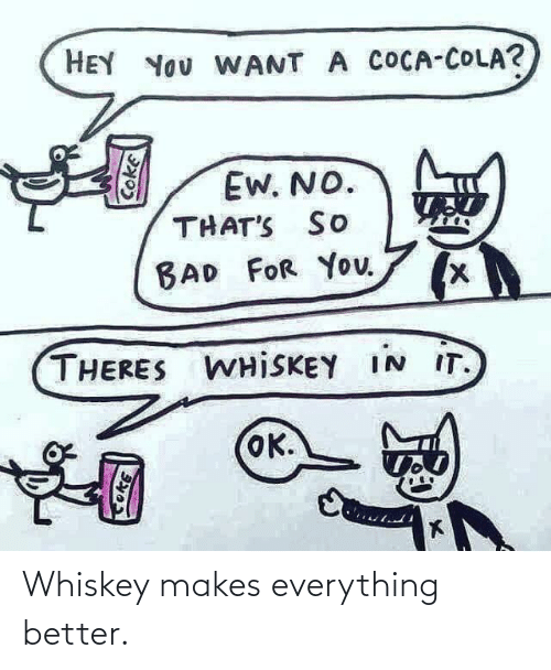 better: Whiskey makes everything better.