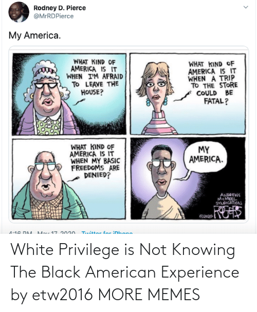 Experience: White Privilege is Not Knowing The Black American Experience by etw2016 MORE MEMES