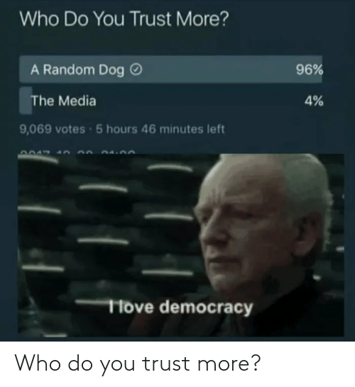 do you: Who do you trust more?