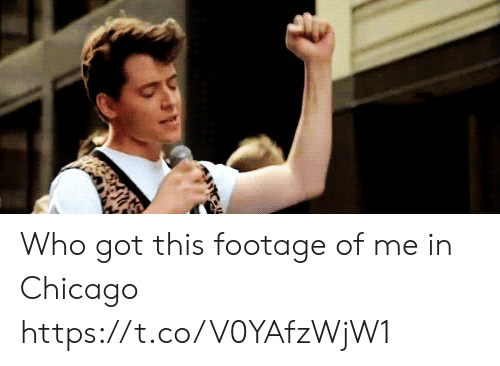 Chicago, Memes, and 🤖: Who got this footage of me in Chicago https://t.co/V0YAfzWjW1