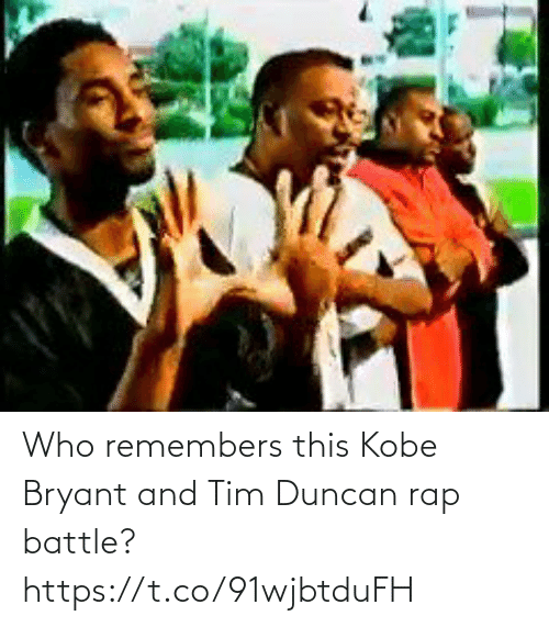 Kobe: Who remembers this Kobe Bryant and Tim Duncan rap battle? https://t.co/91wjbtduFH