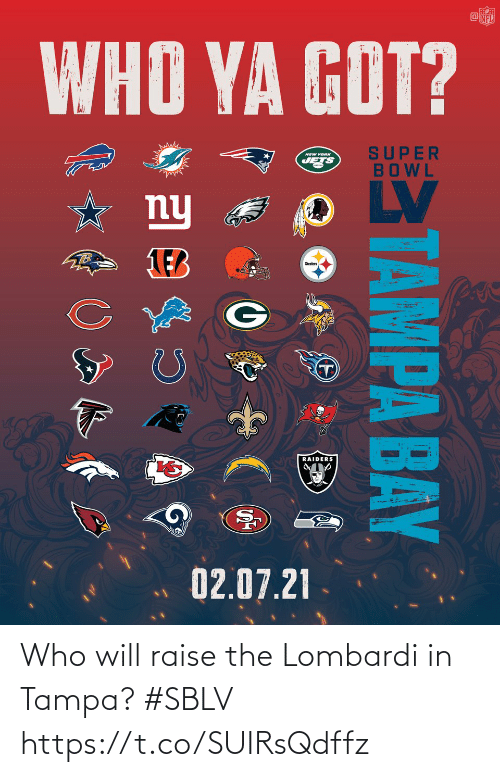 tampa: Who will raise the Lombardi in Tampa? #SBLV https://t.co/SUIRsQdffz