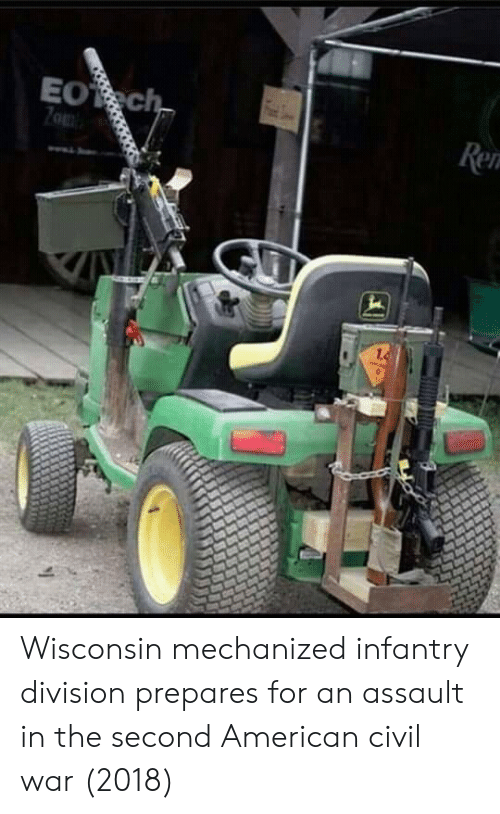 American, Civil War, and Wisconsin: Wisconsin mechanized infantry division prepares for an assault in the second American civil war (2018)