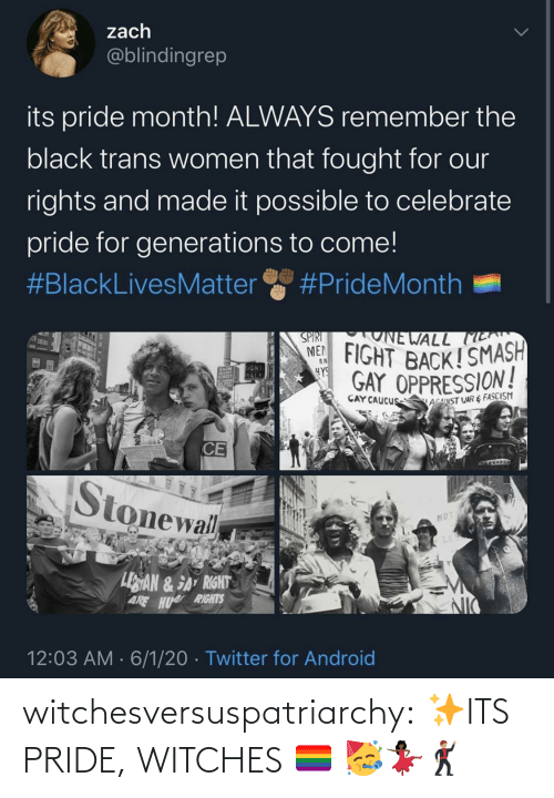 Its: witchesversuspatriarchy:  ✨ITS PRIDE, WITCHES 🏳️‍🌈 🥳💃🏿🕺🏽