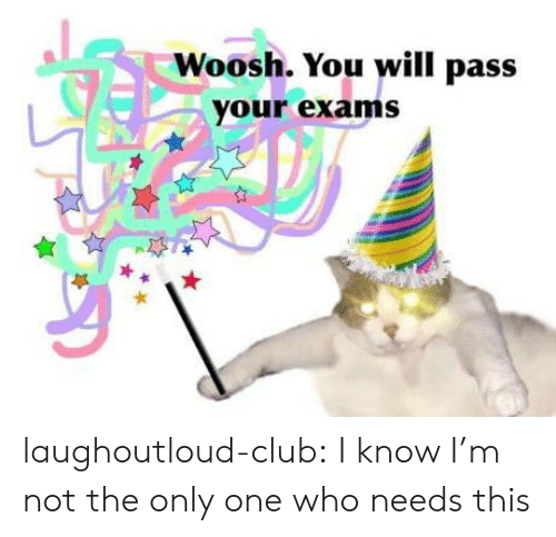 exams: Woosh. You will pass  your exams laughoutloud-club:  I know I'm not the only one who needs this