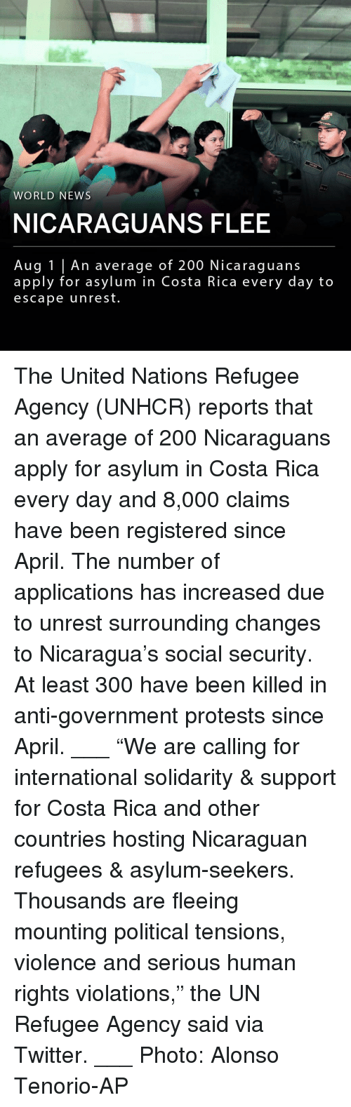 """hosting: WORLD NEWS  NICARAGUANS FLEE  Aug 1 