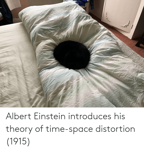 Albert: www Albert Einstein introduces his theory of time-space distortion (1915)