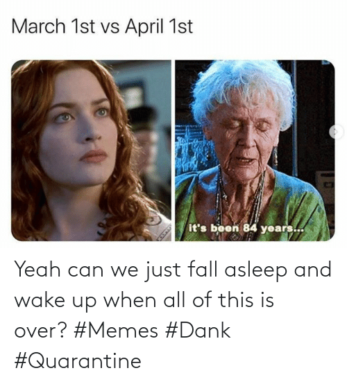 Fall: Yeah can we just fall asleep and wake up when all of this is over? #Memes #Dank #Quarantine