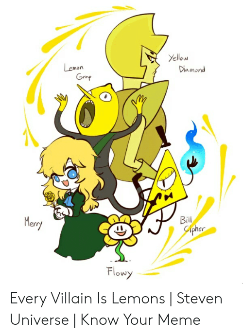 Yellow Diamond Lemon Grap Bill Cipher Merry Flowy Every