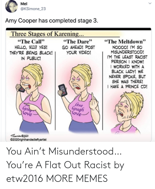 Racist: You Ain't Misunderstood…You're A Flat Out Racist by etw2016 MORE MEMES