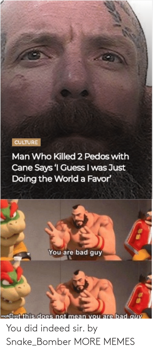 Bomber: You did indeed sir. by Snake_Bomber MORE MEMES