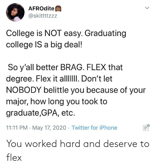 hard: You worked hard and deserve to flex