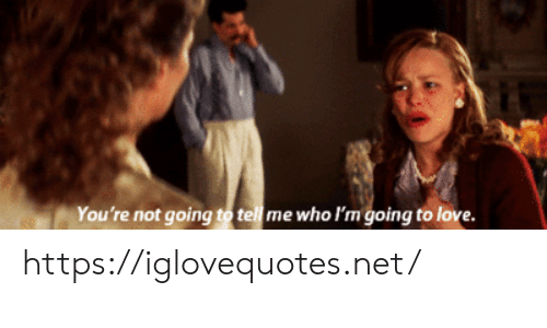 Love, Net, and Who: You're not going to tell me who I'm going to love. https://iglovequotes.net/