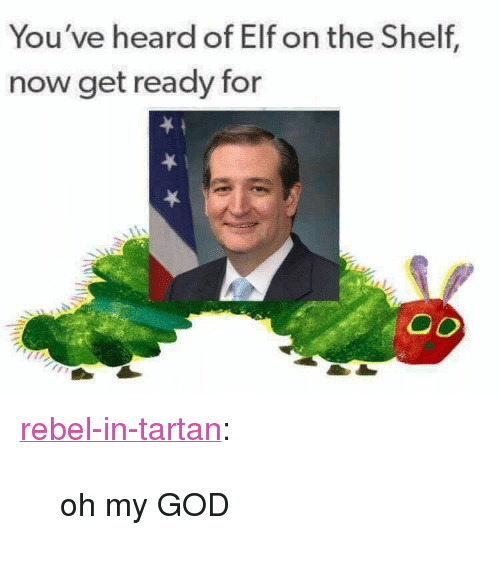 "Elf, Elf on the Shelf, and God: You've heard of Elf on the Shelf  now get ready for <p><a href=""http://rebel-in-tartan.tumblr.com/post/165671119260/oh-my-god"" class=""tumblr_blog"">rebel-in-tartan</a>:</p>  <blockquote><p>oh my GOD</p></blockquote>"
