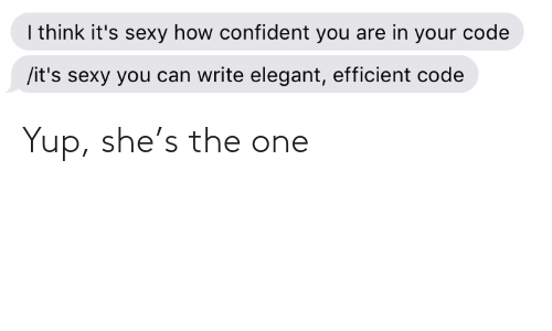 one: Yup, she's the one